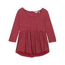 Buy Fat Face Penny Foulard Peplum Top, Flame Online at johnlewis.com