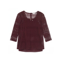 Buy Fat Face Vanessa Lace 2-in-1 Top, Cranberry Online at johnlewis.com