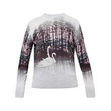 Buy Ted Baker Trishi Sparkling Swan Jumper, Straw Online at johnlewis.com