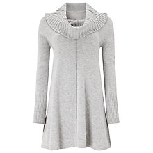 Buy Phase Eight Simona Swing Tunic Jumper, Grey Marl Online at johnlewis.com