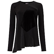 Buy Phase Eight Pamela Patchwork Top, Black Online at johnlewis.com