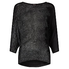 Buy Phase Eight Bona Foil Jumper, Black Online at johnlewis.com