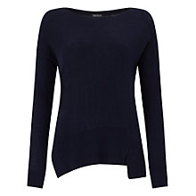 Buy Phase Eight Leanna Asymmetric Jumper, Navy Online at johnlewis.com