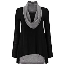 Buy Phase Eight Clementine Contrast Jumper, Black/Grey Online at johnlewis.com