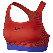 Buy Nike Pro Hyper Classic Sports Bra, Max Orange/Paramount Blue Online at johnlewis.com