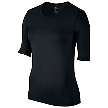 Buy Nike Pro Hypercool Mid-Length Sleeve Training Top, Black Online at johnlewis.com
