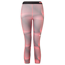 Buy Nike Pro Cool Training Capris, Lava Glow/White Online at johnlewis.com