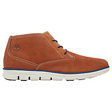 Buy Timberland Bradstreet Lace-Up Leather Chukka Boots, Rust Online at johnlewis.com