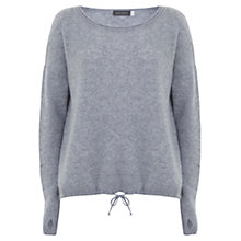 Buy Hygge by Mint Velvet Cashmere Cocoon Jumper, Silver Grey Online at johnlewis.com