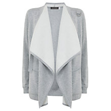 Buy Hygge by Mint Velvet Double Faced Cardigan, Silver Grey Online at johnlewis.com