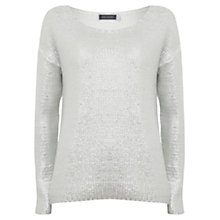 Buy Hygge by Mint Velvet Foil Print Cocoon Jumper, Silver Online at johnlewis.com