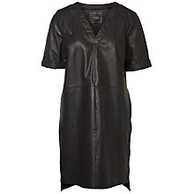 Buy Selected Femme Flora Leather Dress, Black Online at johnlewis.com