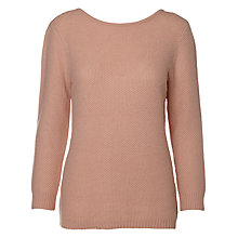 Buy Selected Femme Misa Deep Back Jumper, Rose Online at johnlewis.com