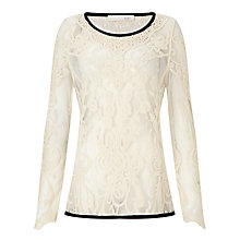 Buy Oui Lace Top, Gardenia Online at johnlewis.com