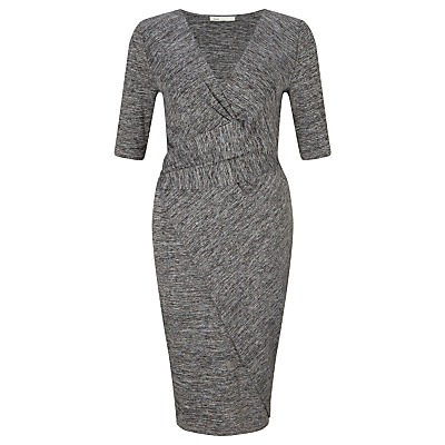 Oui Cross Jersey Dress, Dark Grey
