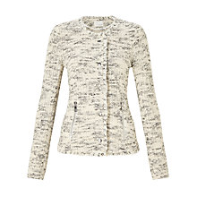 Buy Oui Knit Effect Jacket, Off White/Grey Online at johnlewis.com