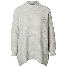 Buy Selected Femme Erica Jumper, Light Grey Melange Online at johnlewis.com