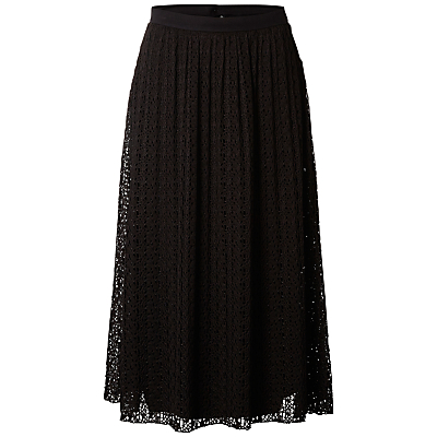 Selected Femme Diny Lace Skirt, Black