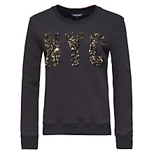 Buy Tommy Hilfiger NYC Sweatshirt, Jet Black Online at johnlewis.com