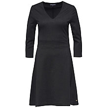 Buy Tommy Hilfiger Catherina V-Neck Dress, Jet Black Online at johnlewis.com