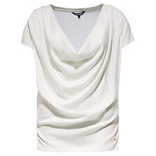 Buy Tommy Hilfiger Camille Drape Neck Top Online at johnlewis.com