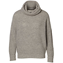 Buy Selected Femme Sofie Roll Neck Jumper, Light GreY Melange Online at johnlewis.com