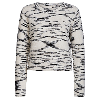 Oui Abstract Detail Jumper, White/Black