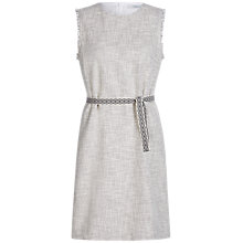 Buy Oui Jacquard Dress, Off White/Grey Online at johnlewis.com