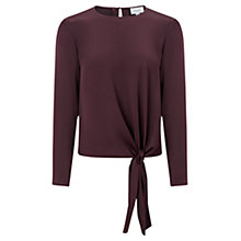 Buy Jigsaw Satin Tie Top, Morello Cherry Online at johnlewis.com