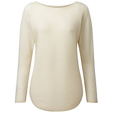 Buy Pure Collection Sophie Gassato Cashmere Textured Jumper, Natural White Online at johnlewis.com