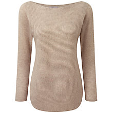 Buy Pure Collection Roselyn Gassato Cashmere Textured Jumper, Natural Online at johnlewis.com
