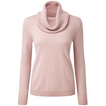 Buy Pure Collection Morgan Cashmere Cowl Neck Jumper, Oyster Online at johnlewis.com