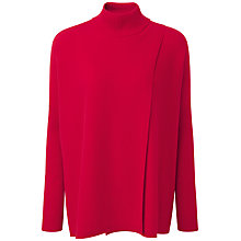 Buy Pure CollectionMae Wrap Front Cashmere Poncho, Pillarbox Red Online at johnlewis.com