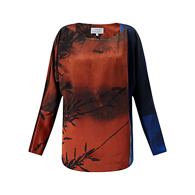 Jigsaw x Antonio Curcetti Winter Sunrise Silk Top, Multi