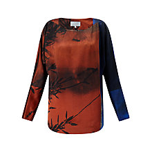 Buy Jigsaw x Antonio Curcetti Winter Sunrise Silk Top, Multi Online at johnlewis.com