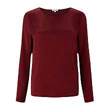 Buy Jigsaw Satin Front Top Online at johnlewis.com