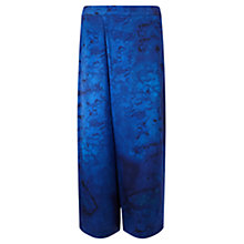 Buy Jigsaw x Antonio Curcetti Palm House Wrap Front Trousers, Cobalt Online at johnlewis.com
