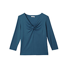 Buy Precis Petite Karla V-Neck Jersey Top, Dark Green Online at johnlewis.com