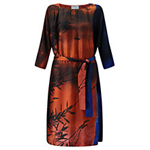 Buy Jigsaw x Antonio Curcetti Winter Sunrise Silk Dress, Multi Online at johnlewis.com