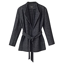 Buy Precis Petite Riley Textured Wrap Coat, Mid Grey Online at johnlewis.com