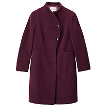 Buy Precis Petite Avery Funnel Neck Long Coat, Dark Red Online at johnlewis.com