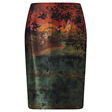 Buy Jigsaw x Antonio Curcetti Autumnal Night Silk Pencil Skirt, Multi Online at johnlewis.com