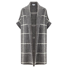 Buy Jigsaw Blanket Weave Knitted Coatigan, Grey Online at johnlewis.com