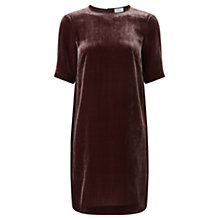 Buy Jigsaw Velvet Tunic Dress, Morello Cherry Online at johnlewis.com