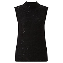 Buy Jigsaw Sparkle Knit Tank Top, Black Online at johnlewis.com