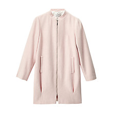 Buy Precis Petite Jeff Banks Cocoon Coat, Light Pink Online at johnlewis.com