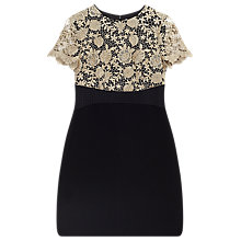 Buy Precis Petite Gianna Lace Bodice Dress, Multi/Black Online at johnlewis.com