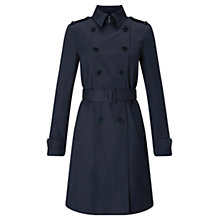 Buy Jigsaw Trench Coat, Ink Online at johnlewis.com
