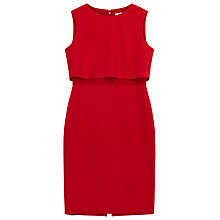 Buy Precis Petite Vivian Lace Insert Shift Dress, Bright Red Online at johnlewis.com