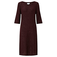Buy Jigsaw Sparkle Half Sleeve Knit Dress, Morello Cherry Online at johnlewis.com